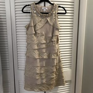 Champagne sleeveless dress size 8